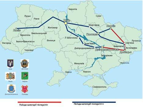 Карта движения поездов