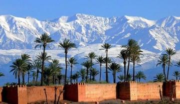 Вид на горы, Марракеш