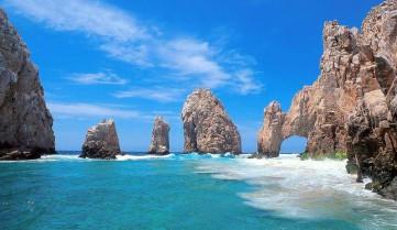 Скалы в океане, Ривьера-Майя