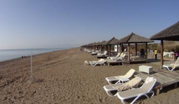 Белек, пляж