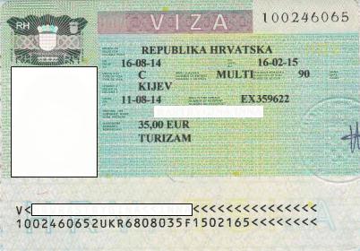 Виза в Хорватию 2015
