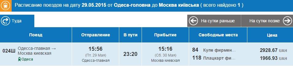 Одесса-Москва