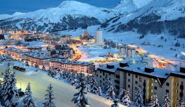 Вид на лыжные трассы Андорры