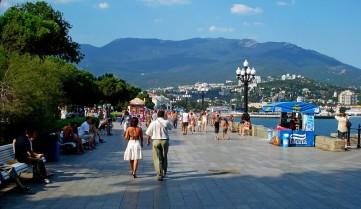 Набережная для прогулок в Крыму