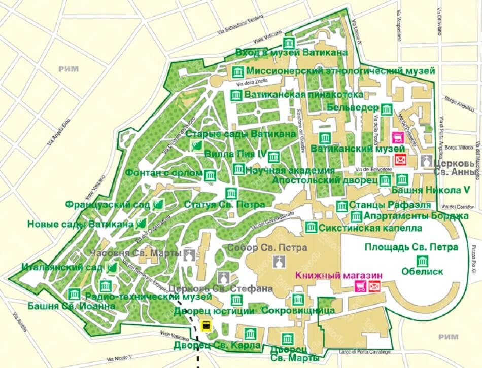 карта Ватикану
