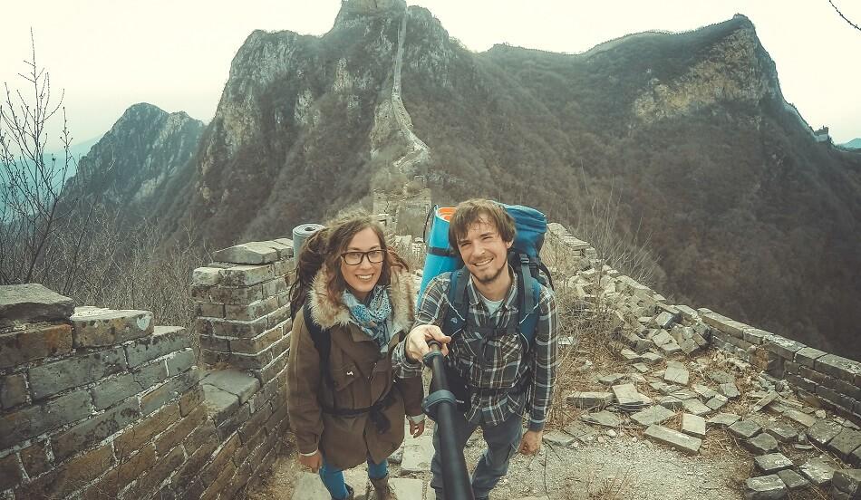 туристи на Великій Китайській стіні