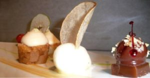 десерт в ресторані Le Belvedere