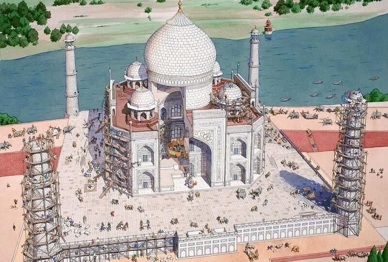будівництво Тадж Махал