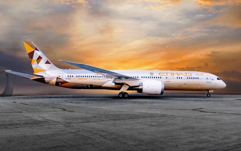 самолёт компании Etihad Airways