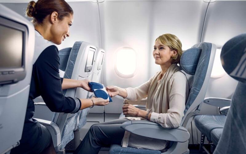 борт самолета авиакомпании Finnair