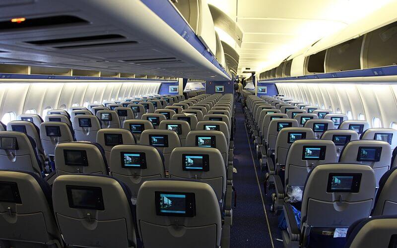 борт самолёта KLM