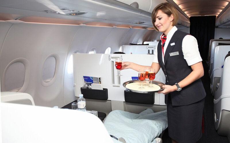 питание в самолетах British Airways