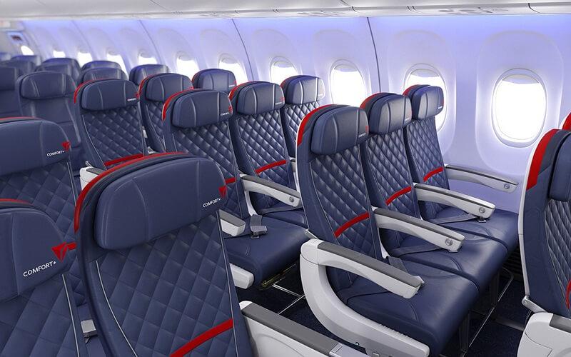 борт самолёта Delta Air Lines