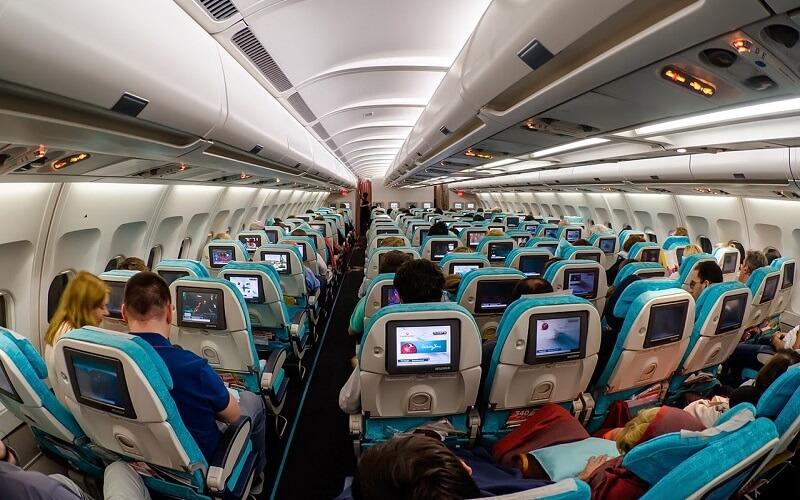борт самолёта Turkish Airlines