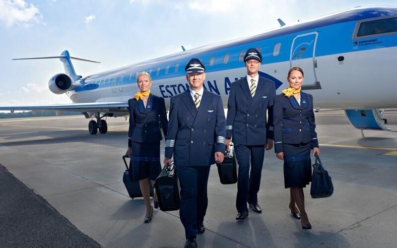 работники авиакомпании Estonian Air