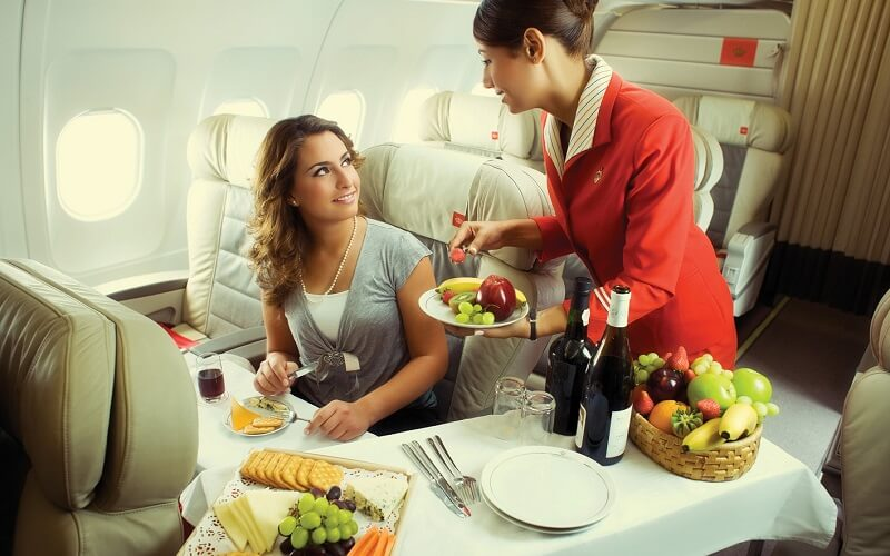питание на рейсах Royal Jordanian Airlines