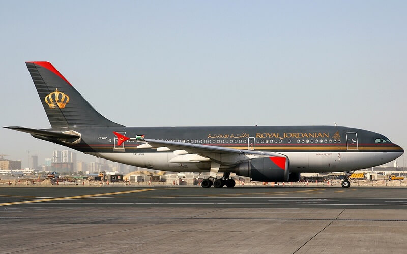 самолет Royal Jordanian Airlines