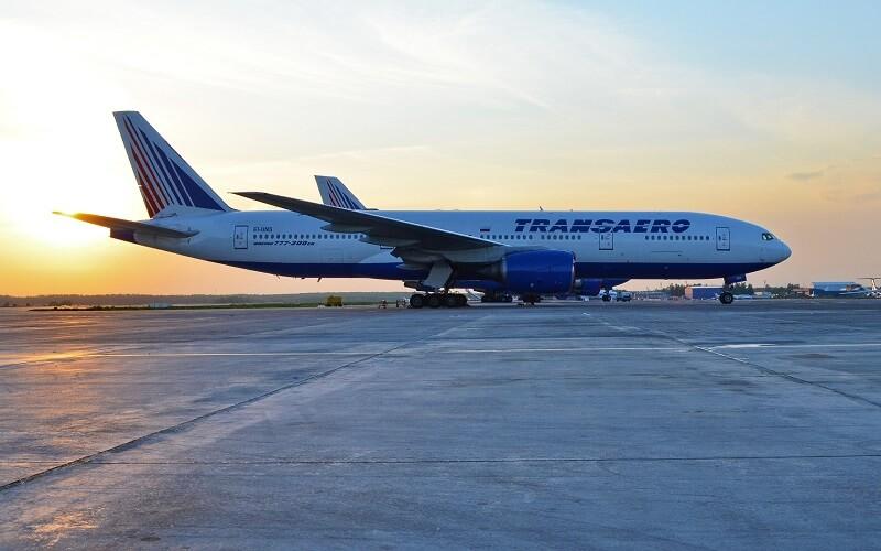 самолёт TRANSAERO AIRLINES