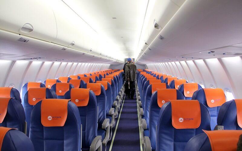 борт самолёта авиакомпании Armavia