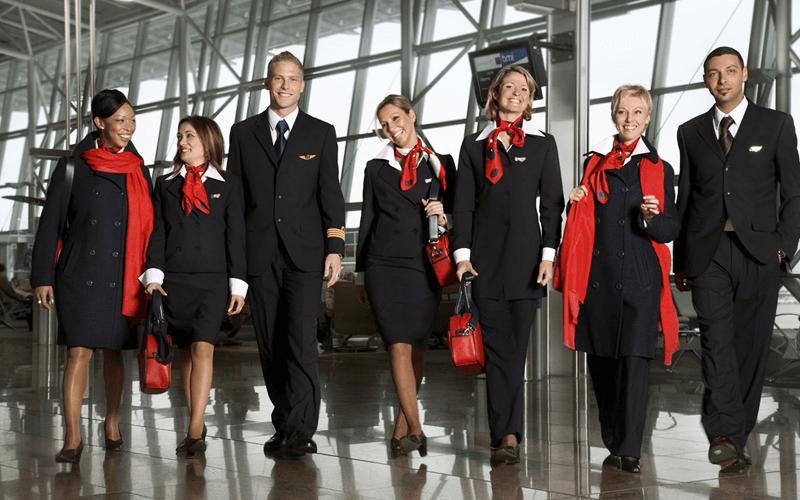 экипаж авиакомпании Brussels Airlines