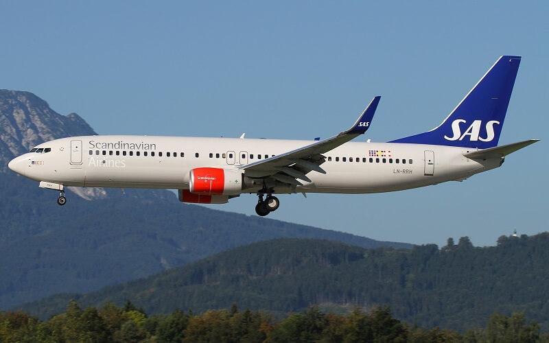 самолёт Skandinavian Airlines