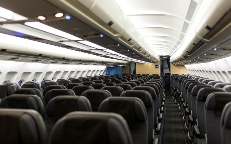 борт самолёта авиакомпании SAS