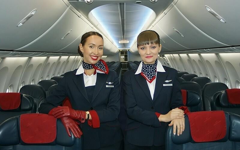 стюардессы TRANSAERO AIRLINES