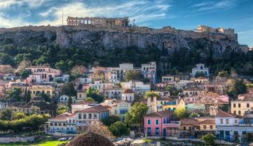 Вид на Афины