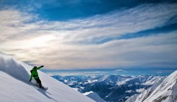 Катание на лыжах и сноуборде, Гудаури