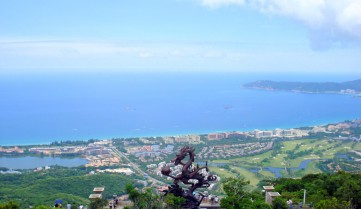 Вид сверху, остров Хайнань