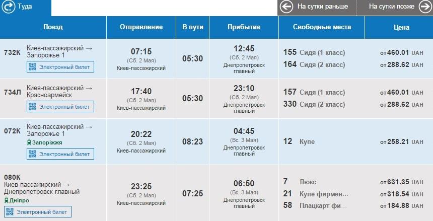 Купить билет на поезд онлайн в днепропетровске екатеринбург оренбург билет на самолет