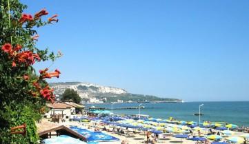 Пляж в городе Балчик, Болгария