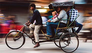 Велорикша Індія