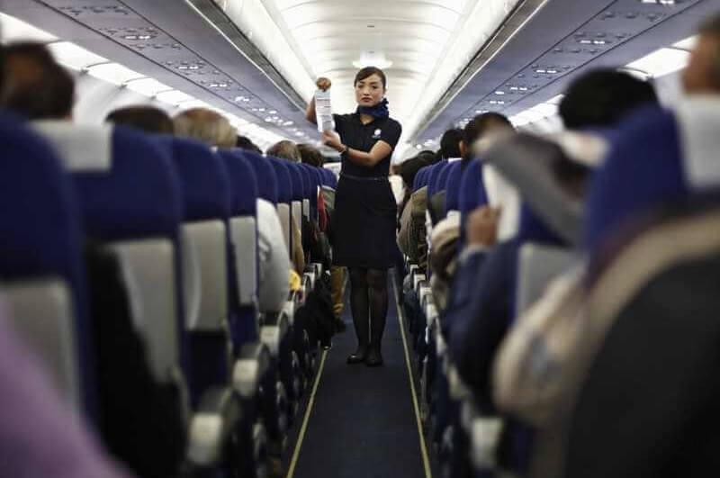 инструктаж в самолете