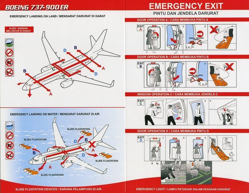 инструкция в самолете