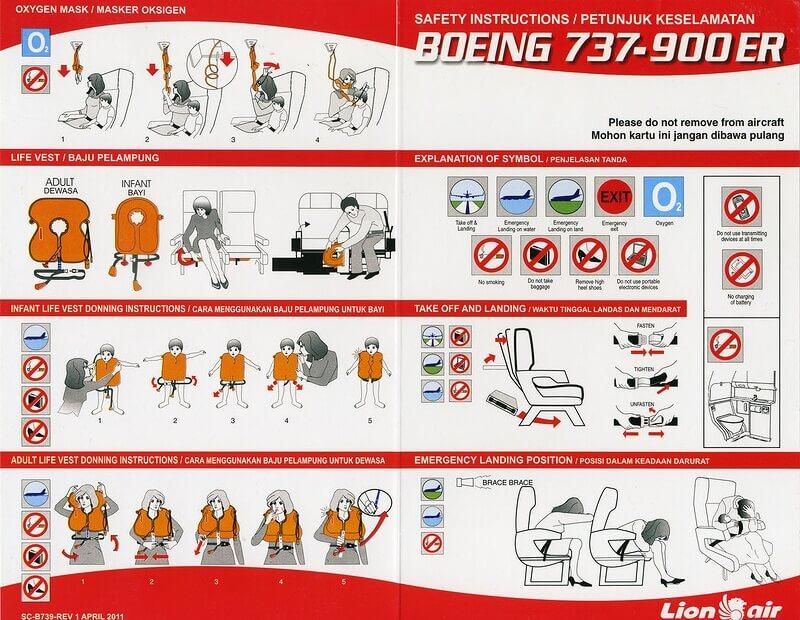 инструкция в самолете для пассажиров