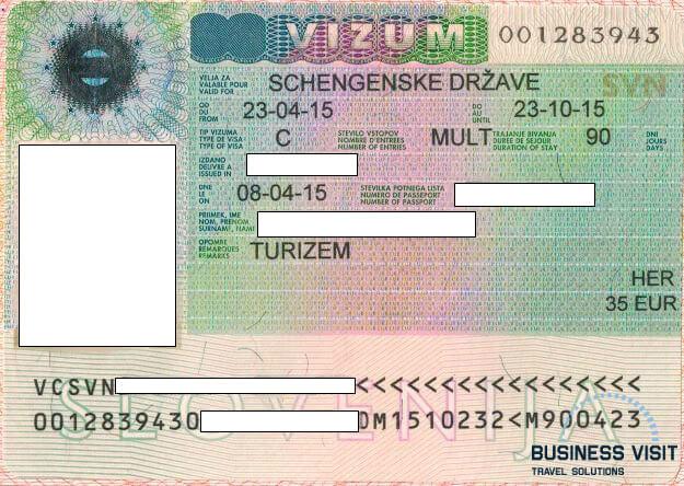 Шенгенская виза в Словению, 2014, турагентство «Бизнес Визит»