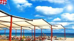 пляж отеля в Турции, г. Сиде
