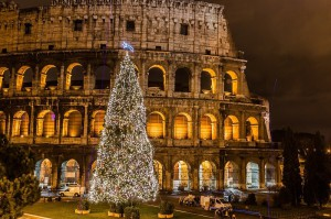 Ёлка в Риме, Италия
