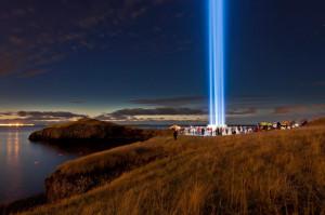 Башня Йоко Оно в Исландии