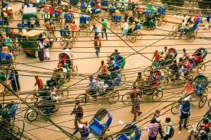оживленные улицы Бангладеша