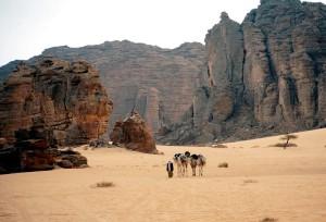 пустынные земли в Алжире