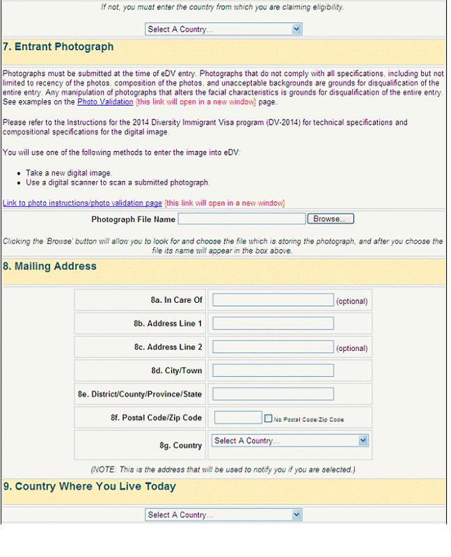 пошаговая инструкция заполнения анкеты лотереи green card
