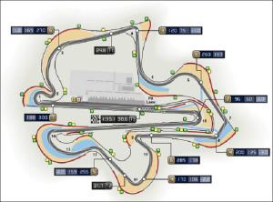 схема гоночной трассы в Сепанге, Куала-Лумпур