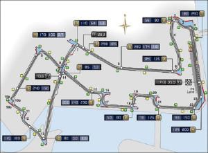 схема гоночной трассы, Сингапур