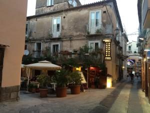 Улица в Италии, вечер