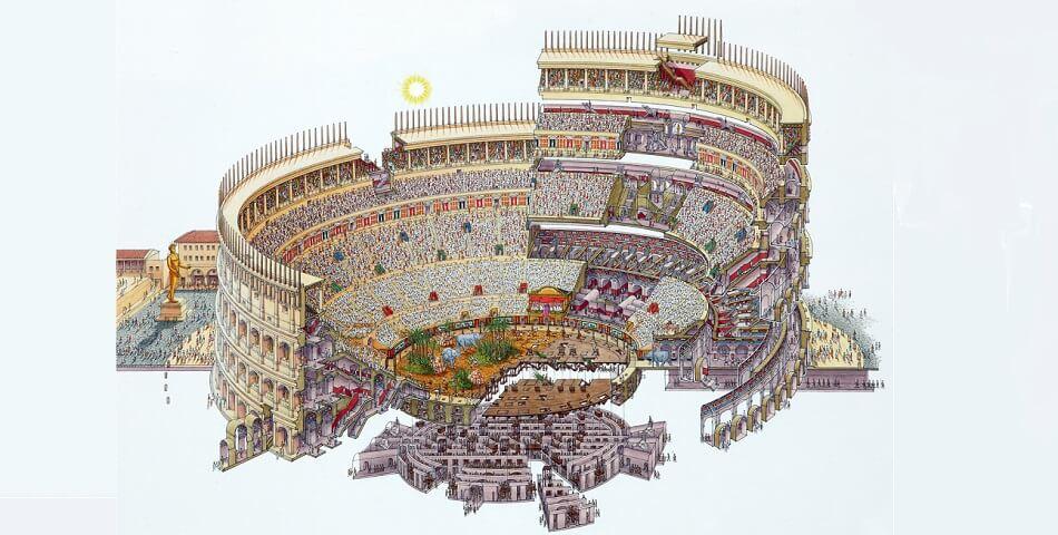 схема Римского Колизея