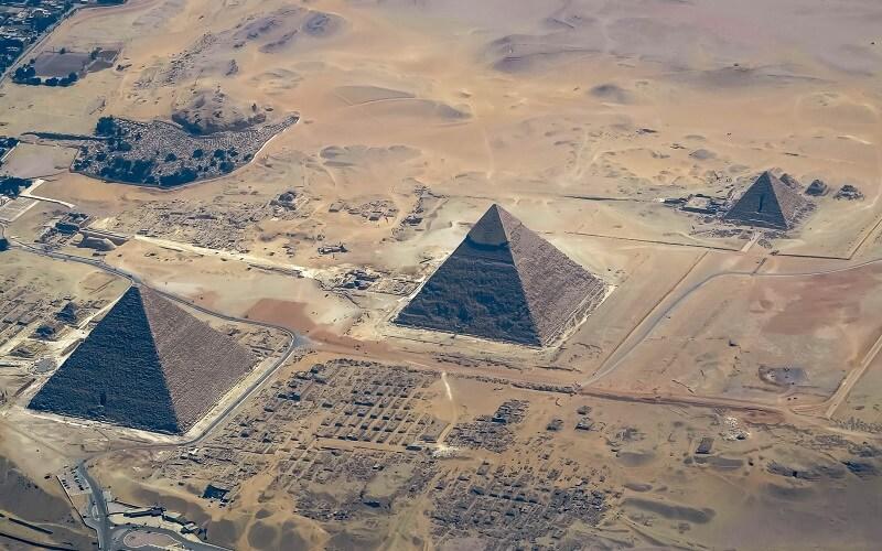 Пирамида Хеопса с высоты