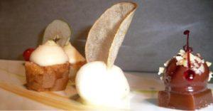 десерт в ресторане Le Belvedere