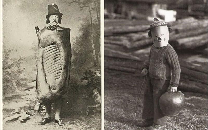 костюмы на хэллоуин в 19 веке